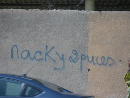 (tag contre Macky Sall, Crédit photo: Serge Katembera)