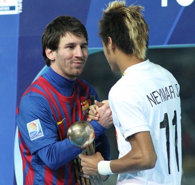http://commons.wikimedia.org/wiki/File:Messi_with_Neymar_Junior_the_Future_of_Brazil.jpg