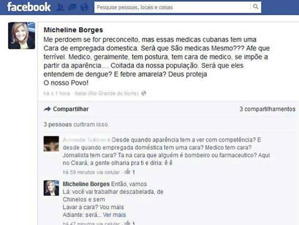 La journaliste Micheline Borges tient des propos racistes contre les médecins cubains