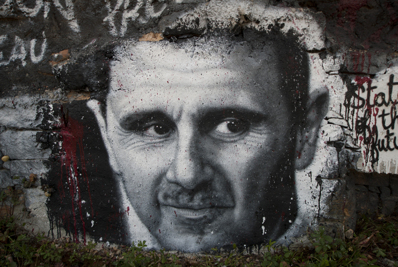 https://commons.wikimedia.org/wiki/File:Bachar_el-Assad_graffiti.jpg
