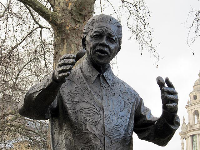 http://commons.wikimedia.org/wiki/File:Nelson_Mandela_statue,_Westminster.JPG