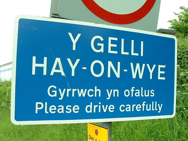 http://commons.wikimedia.org/wiki/File:Hay-on-Wye_sign.jpg