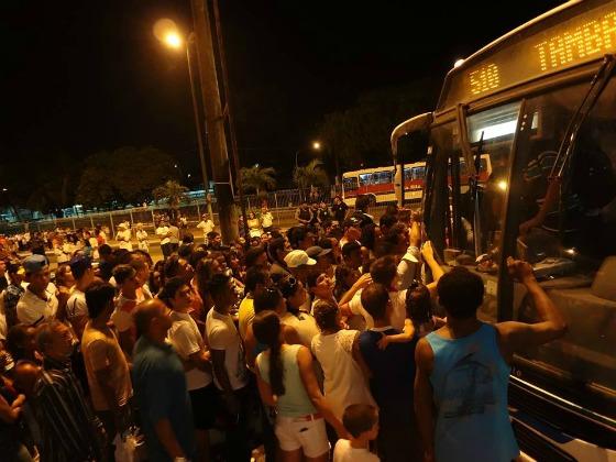 Le chaos dans un terminal de bus à João Pessoa