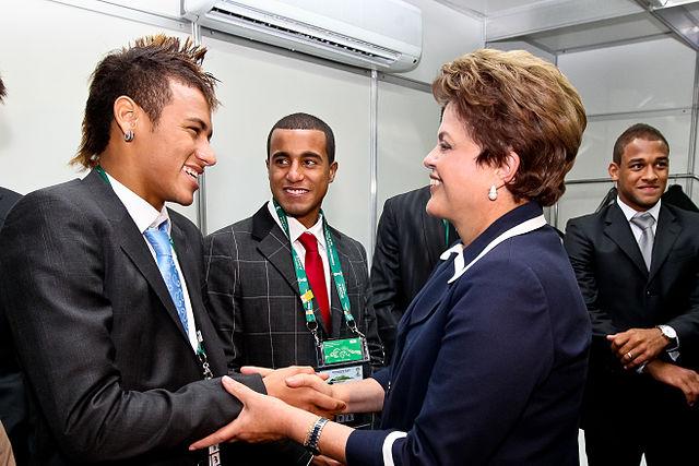 http://commons.wikimedia.org/wiki/File:Neymar_meets_Dilma_Rousseff.jpg