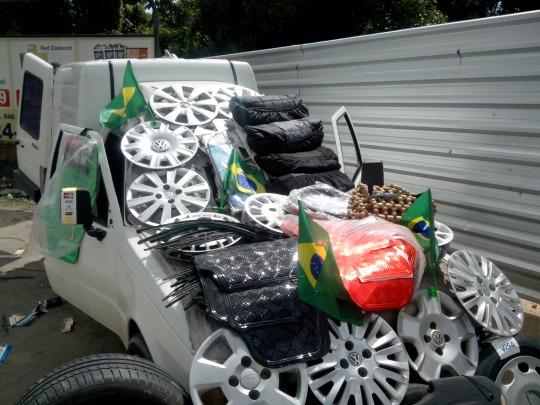 Le climat du mondial est très visible dans les villes brésiliennes / carioca plus