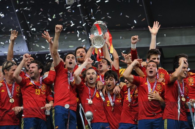 http://commons.wikimedia.org/wiki/File:Spain_national_football_team_Euro_2012_trophy_02.jpg