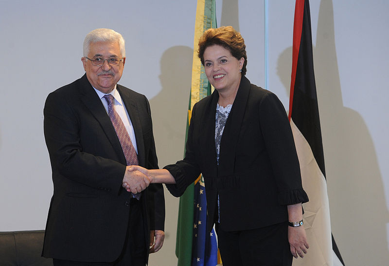 http://commons.wikimedia.org/wiki/File:Dilma_Rousseff_and_Mahmoud_Abbas_2011.jpg