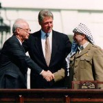 http://en.wikipedia.org/wiki/Yitzhak_Rabin#mediaviewer/File:Bill_Clinton,_Yitzhak_Rabin,_Yasser_Arafat_at_the_White_House_1993-09-13.jpg