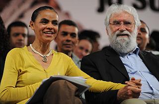 Marina Silva avec Leonardo Boff, intellectuel de la théologie de la libération / wikimedia commons
