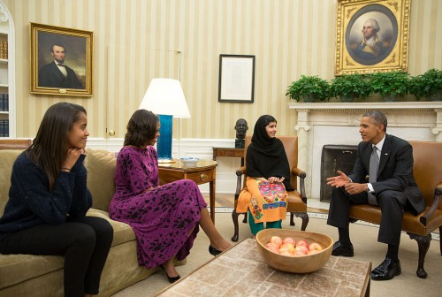 http://commons.wikimedia.org/wiki/File:Malala_Yousafzai_Oval_Office_11_Oct_2013.jpg