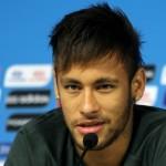 Neymar pendant la Coupe du monde 2014