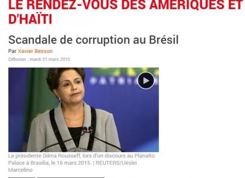Capture d'écran sur le site de RFI