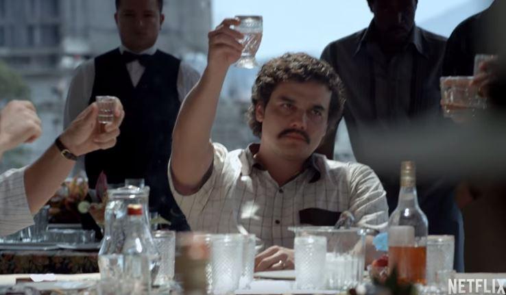"""Capture d'écran d'une scène de """"Narcos"""" mise en ligne sur Netflix"""