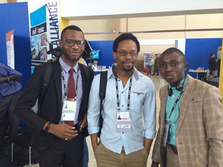 De gauche à droite: Chancel Malanga, Serge Katembera et Arsène Tungali